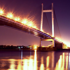 Hooghly Bridge by Sonali Majumder - Buildings & Architecture Bridges & Suspended Structures ( pwcbridges )
