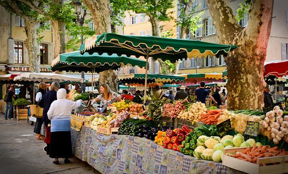 Овощной рынок в Экс-ан-Провансе - Рынки в Экс-ан-Провансе - традиционные барахолки, продуктовые и блошиные рынки. Время и место проведения рынков в Эксе. Что где купить в Эксе, путеводитель