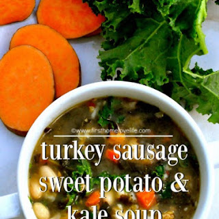 Sausage, Sweet Potato, and Kale Soup.
