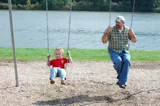 Photo: Wes and Dad, swingin' at Moraine State Park