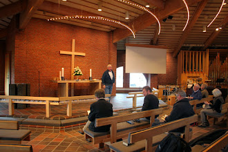 Photo: Indledning på pilgrimsvandring i Karlslunde Strandkirke