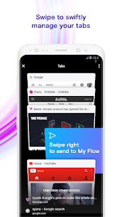 Opera Touch the fast, new browser with Flow 8