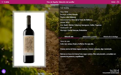 Vinipad Carta de Vinos/Comidas Screenshot
