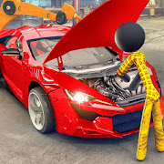 Stickman Car Garage Repair Shop