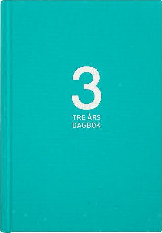 3-årsdagbok Linne turkos