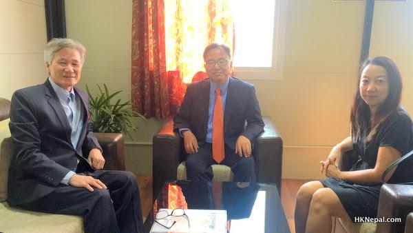 कोरियन राजदूतद्वारा एस वाई मोडल हाउसको अवलोकन