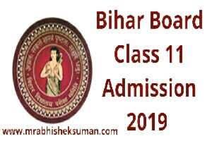 BIHAR BOARD CLASS 11 ADMISSION 2019 NOTIFICATION ON OFSSBIHAR