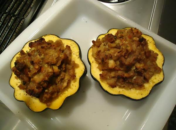 Norma's Stuffed Maple/sausage Acorn Squash For Two Recipe