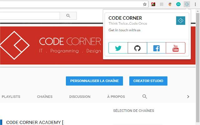 Code Corner Luncher