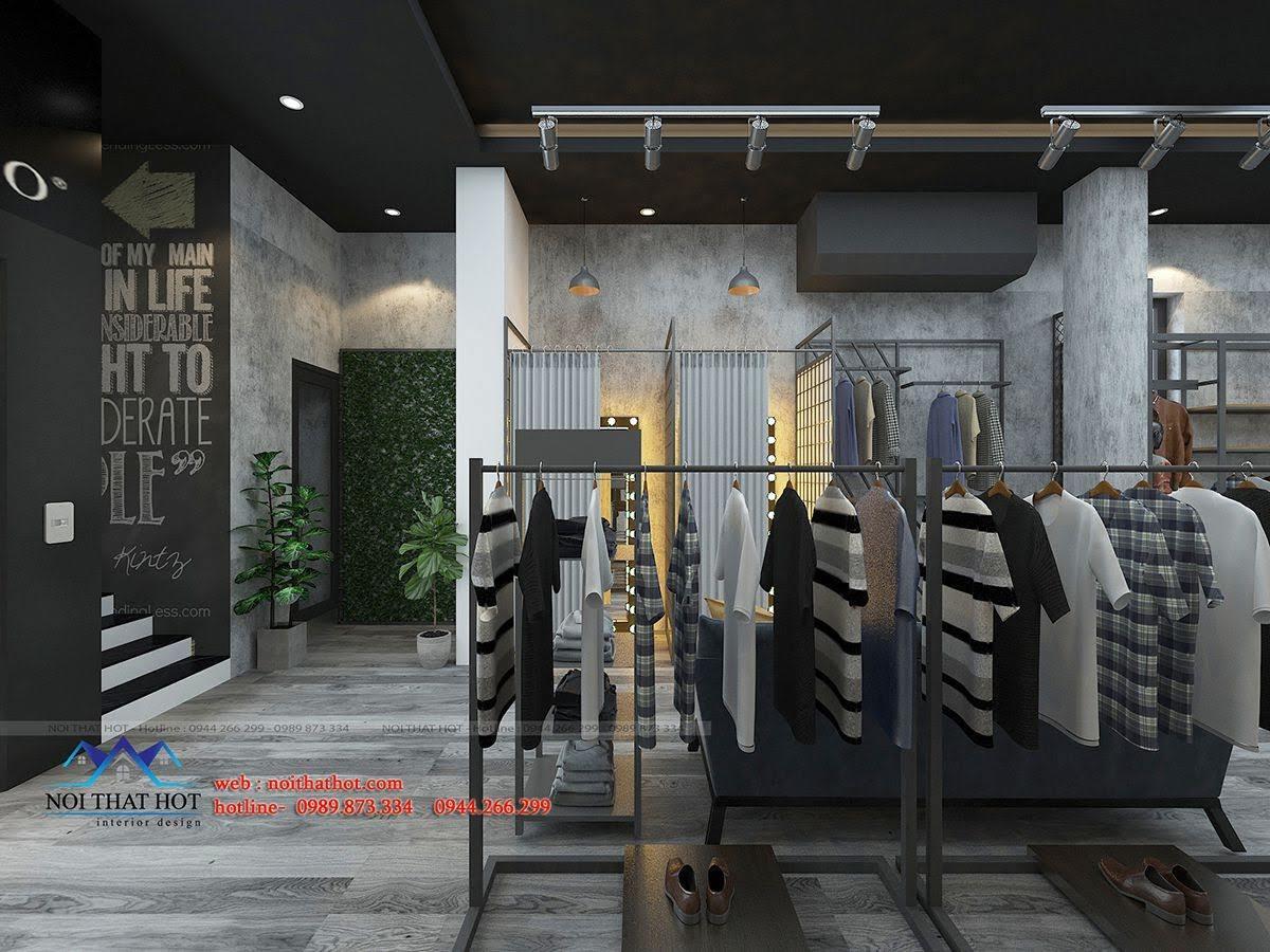 thiết kế shop thời trang nam polido 5
