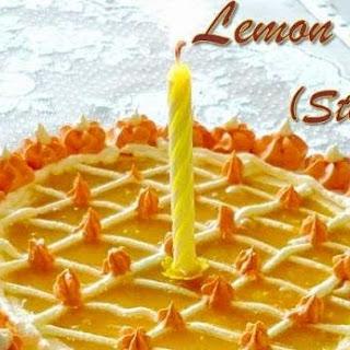Steamed Lemon Cake with Lemon Curd filling for B'day cake.