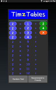TimzTables Times Tables- screenshot thumbnail