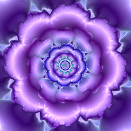 Flower 34 by Cassy 67 - Illustration Abstract & Patterns ( purple, wallpaper, digital art, harmony, bloom, fractal, digital, fractals, flower )