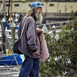 Moving day by Sandy Scott - People Street & Candids ( walking, candid photograpy, society, sad, homeless, male, people, man, hat, street photography,  )