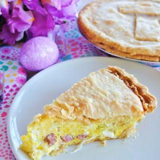 Easy Italian Easter Pie with Prosciutto & Mozzarella Cheese Recipe