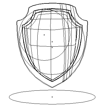 Gold Shield Illustration Outline