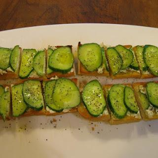 Baguette with Feta Spread and Cucumbers Recipe