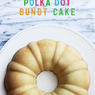 Polka Dot Bundt Cake #BundtBakers.