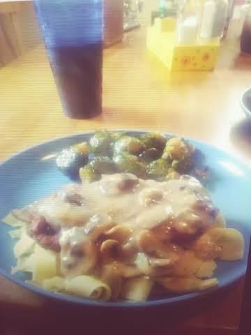 Chicken Schnitzel with Mushroom Apple Gravy