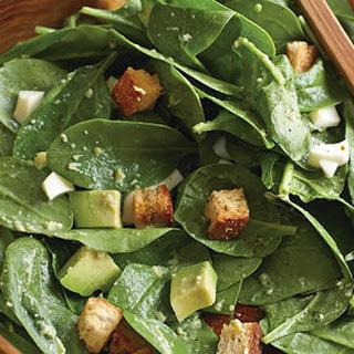 Spinach-Avocado Caesar Salad.