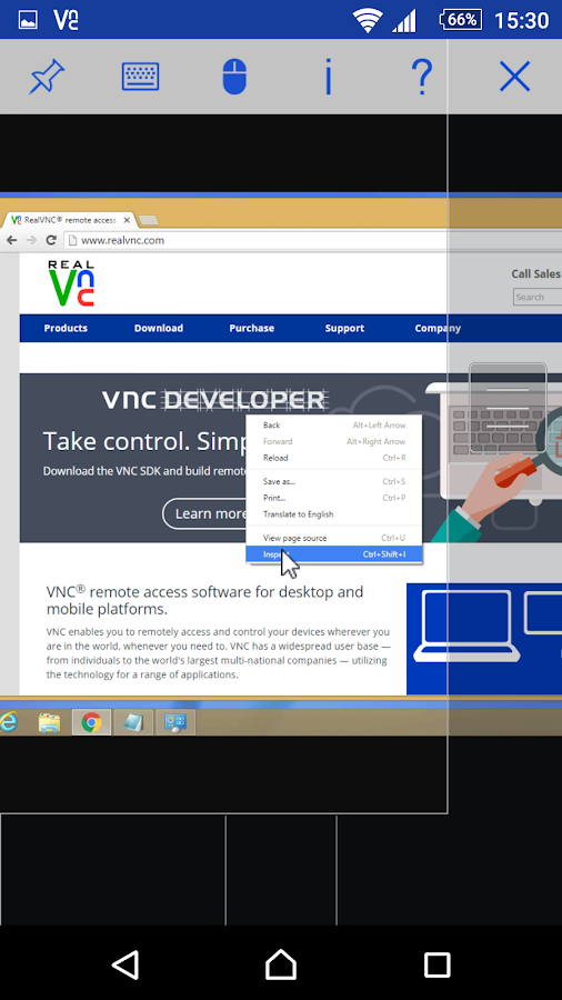 VNC Viewer- screenshot