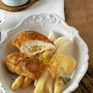 Stuffed Chicken with Butter Sauce.