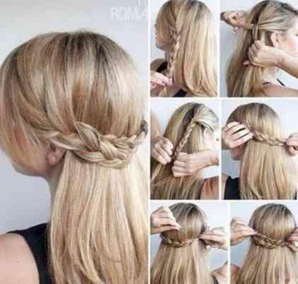 編み込みヘアスタイルチュートリアル