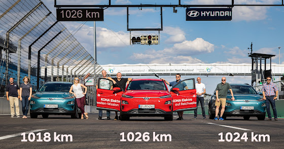 El Hyundai Kona bate el récord de autonomía