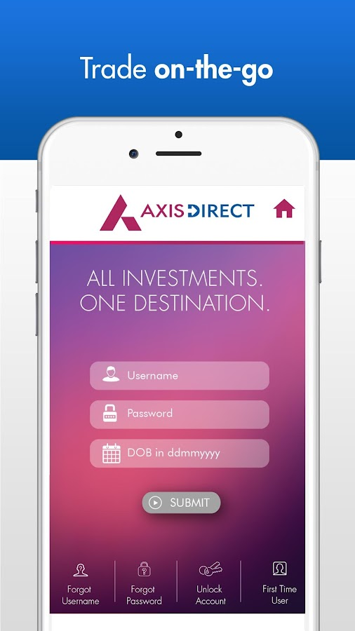 Screenshots of AxisDirect Mobile for iPhone