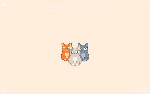 Funny Lively Cats New Tab Theme