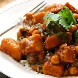 Winter Squash & Chickpea Curry.