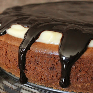 Boston Cream Cheesecake with Nilla Wafer Crust!.