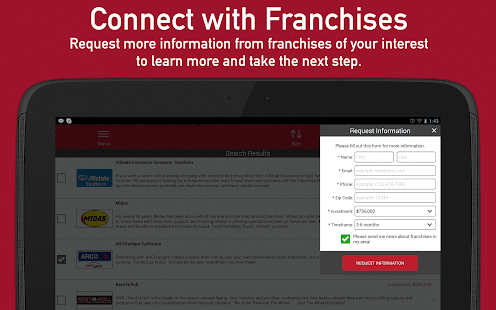 Franchises to Buy- screenshot thumbnail