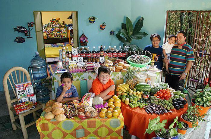 MzTK8xSr6Mur8RkPMpQJE6xSl9NLKvv0wOFPGs7EoM8=w700 h462 no - Недельный запас еды для семьи в разных странах мира (фото)