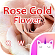 Rose Gold Flower Emoji & GIF Keyboard Theme for PC-Windows 7,8,10 and Mac