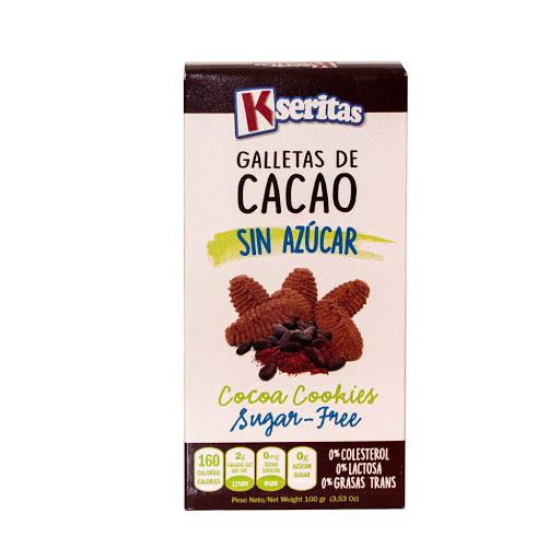 galletas sin azucar kaseritas cacao 100g Kseritas