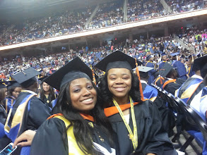 Photo: Jessica Terry and Raquel Teasley, Graduation May 2013