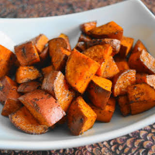 Parmesan Balsamic Roasted Sweet Potatoes.