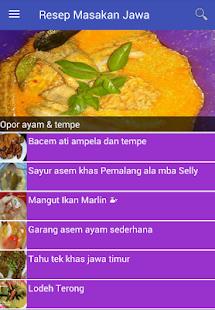 Resep Masakan Jawa - náhled