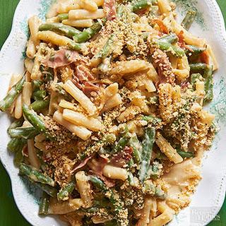 Provolone-Prosciutto Green Bean Casserole Recipe