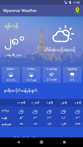 Myanmar Weather App 1.0 screenshots 7