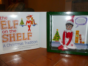 Photo: December 15 - Inside the box from Santa was a new girl elf! We named her Holly.