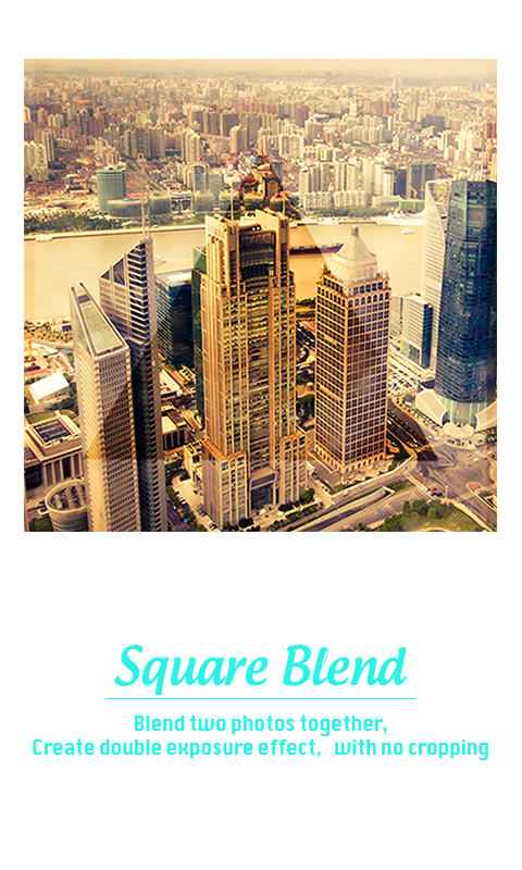 Square Blend Pic Collage-Sunset photo editor- หน้าจอ