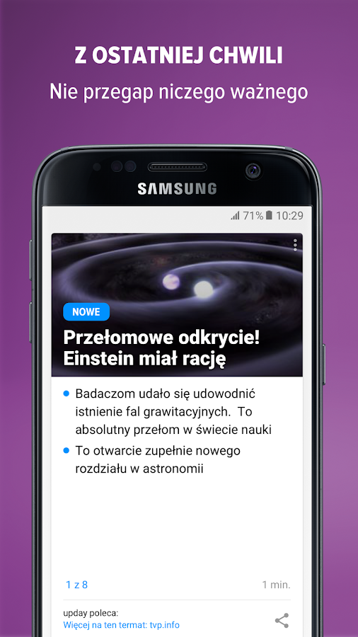 upday news for Samsung – zrzut ekranu