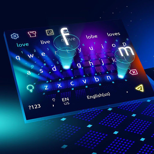 3D Colorful Hologram Keyboard 10103 screenshots 1