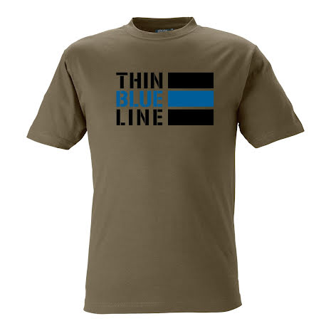 T-shirt Thin Blue Line INT OLIVE
