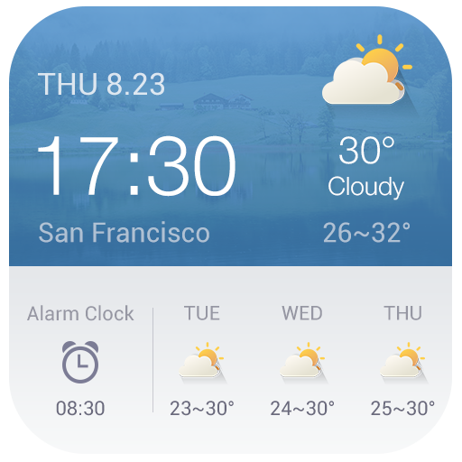 Alarm Clock Weather Widget