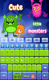 Fluffy Cute Monster Keyboard - náhled