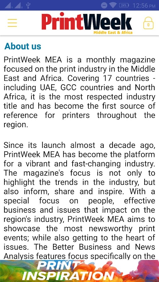 Printweek Middle East & Africa- screenshot