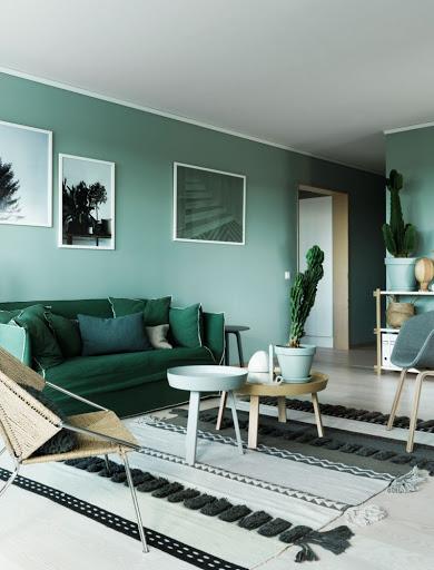 decorar casa de verde